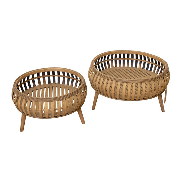 Cora Set of 2 Planters - Natural; ETA Mid December