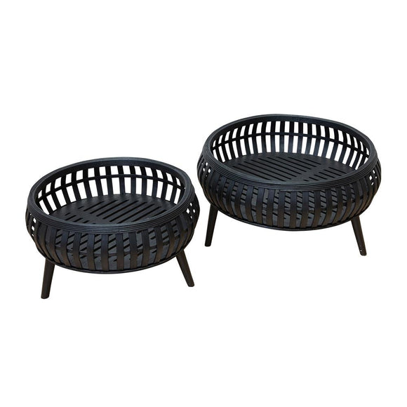 Cora Set of 2 Planters - Black; ETA Mid December