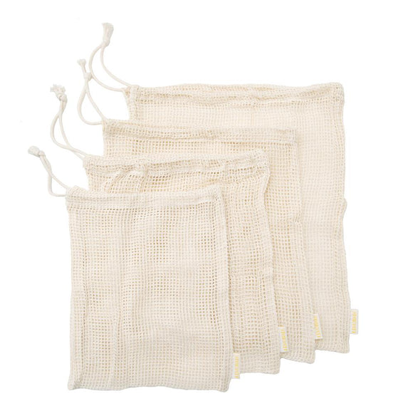 Set of 4 Mesh Produce Bags