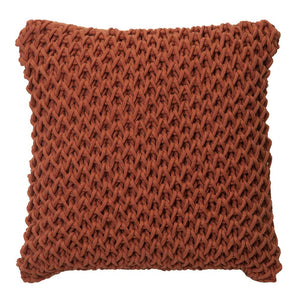 Zara Cushion 50x50cm Burnt Orange