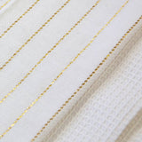 Festive Stripe Tea Towel 50x70cm Gold/White