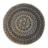 Kendra Printed Rug 120cm Round Black/Natural; ETA Mid December