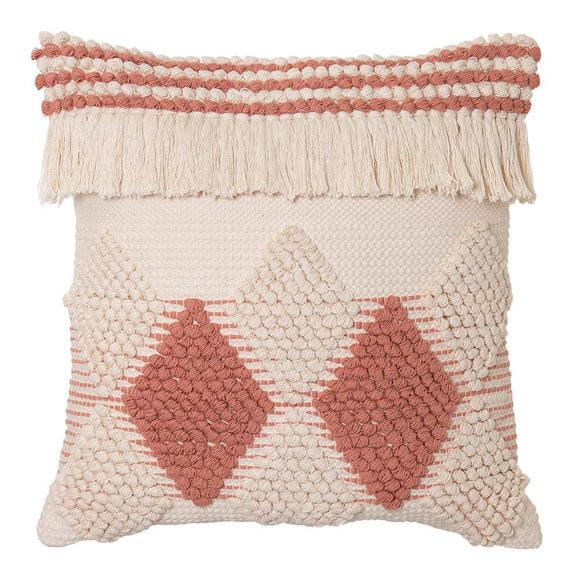 Addie Cushion 50x50cm Natural/Clay Pink; ETA Mid December