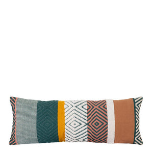 Almeria Cushion 35x90cm Green Multi; ETA Mid December