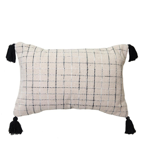 Alley Cushion 35x55cm Natural/Black