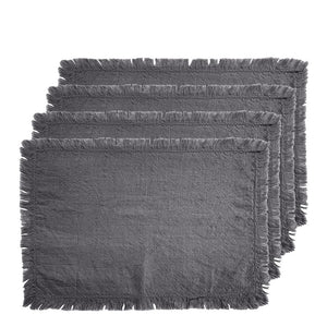 Avani Set of 4 Placemats 33x48cm Charcoal