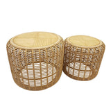 Brysen Set of 2 Tables 70.5x56.5/55.3x49cm Natural