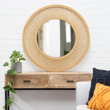 Duke Bamboo Mirror 96.5x2.5x96.5cm Natural; ETA Mid December