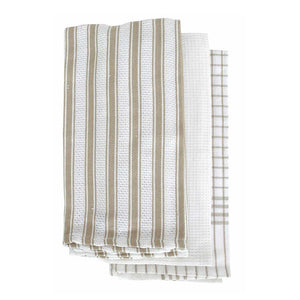 Gardenia 3 Pack Tea Towels 50x70cm Taupe