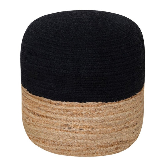 Henri Ottoman 45x45x40cm Natural/Black; ETA Mid December