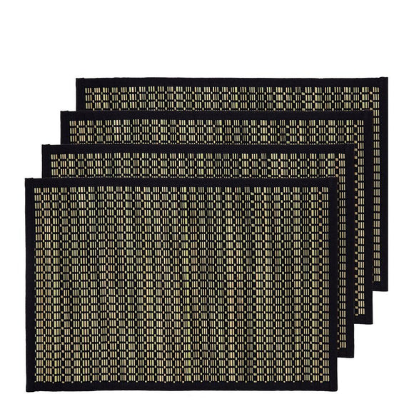 Juno Set of 4 Placemats 33x48cm Black; ETA December