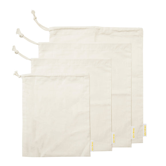 Lemonade Karma: Set of 4 Muslin Bags