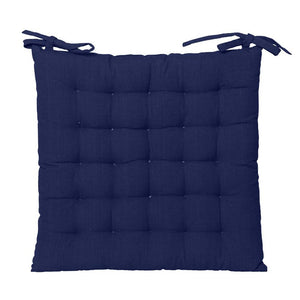 Cotton Chair Pad in Blue