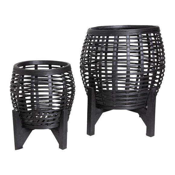 Whittaker Set of 2 Planters 41.3x51cm/30x36cm Black; ETA Mid December