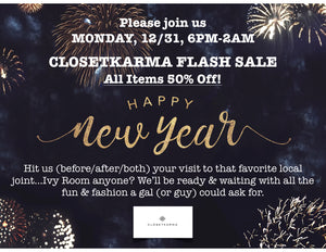 NEW YEAR'S EVE FLASH SALE!