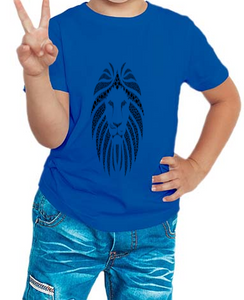 Boy's T-shirt  Lion Printed Blue