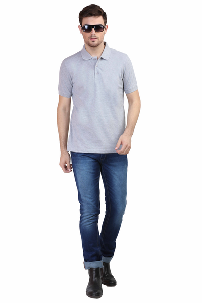 Men's Polo T-shirt Grey Melange