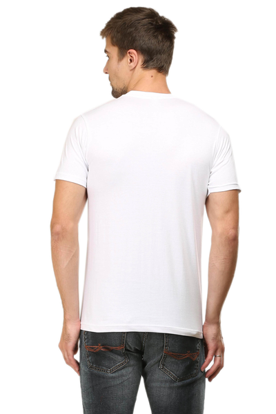 Race Life Motor Cycles Men's Round Neck Half Sleeve printed Premium Cotton T-shirt White
