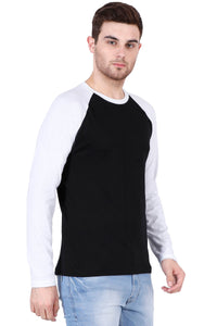 Men's Raglan full sleeves Premium White Black