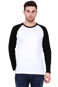 Men's Raglan full sleeves Premium Black White