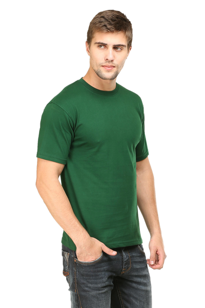 Buy Mens round neck half sleeves cotton tshirt online