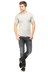 Buy round neck half sleeves cotton tshirts online