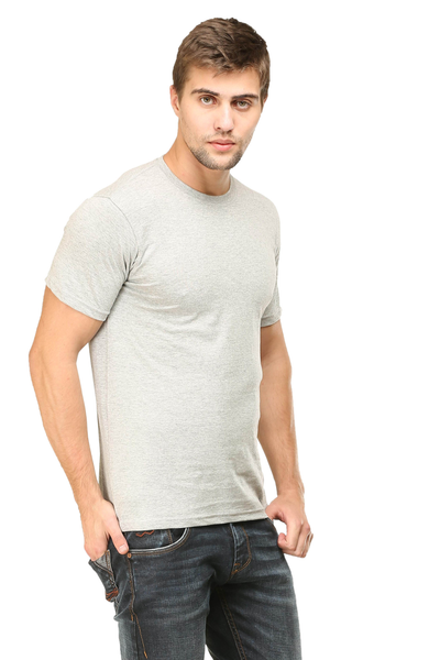 Grey color mens tshirt