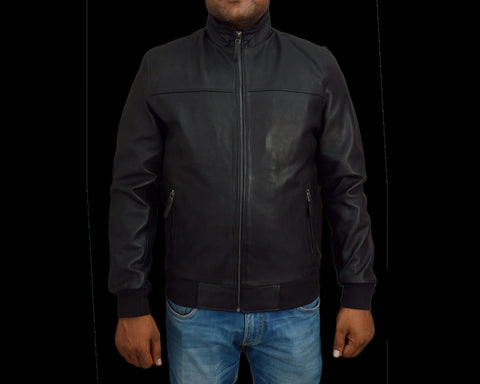 T1trendze Leather Jacket Black LJ05