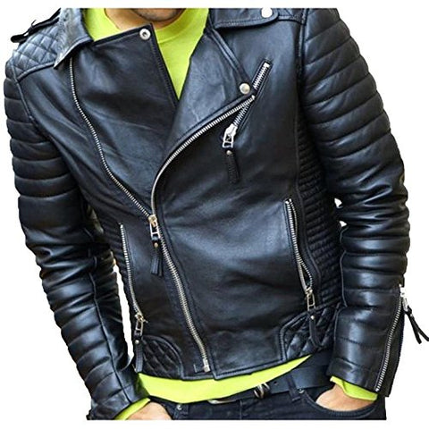 T1trendze Leather Jacket Black LJ07