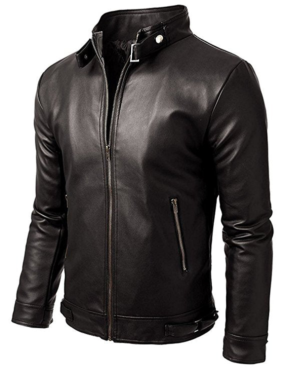 T1trendze Leather Jacket Black LJ10
