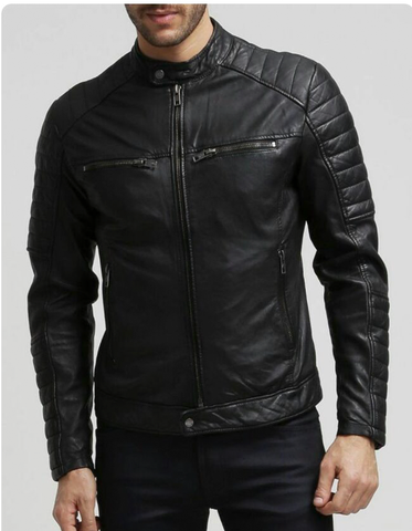 T1trendze Leather Jacket Black LJ13