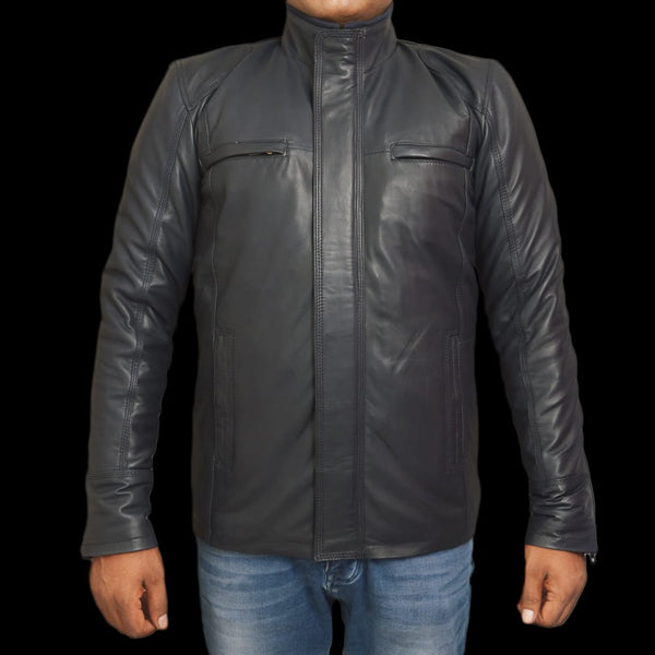 T1trendze Leather Jacket Black LJ14