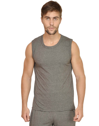 Men's Gym Vest Charcoal Melange