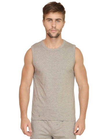 Men's Gym Vest Grey Melange