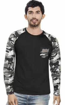 Men's Raglan full sleeves Premium White Camouflage