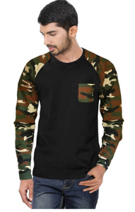 Men's Raglan full sleeves Premium Brown Camouflage