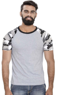 Men's Raglan full sleeves Premium Grey Camouflage