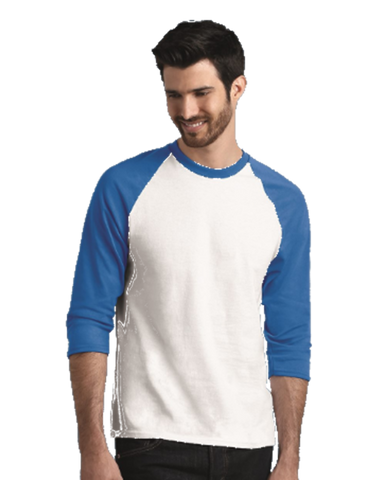 Men's Raglan full sleeves Premium White Blue
