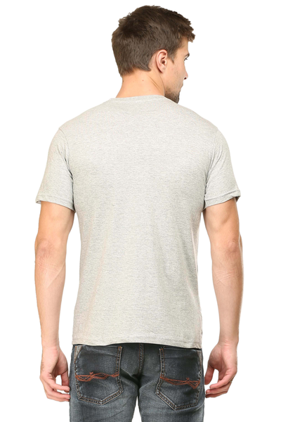 Mens tshirt grey melange color