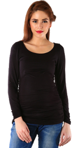 Women's Raglan full sleeves Premium Black poly