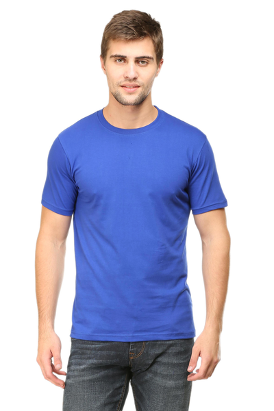 plain blue t shirt