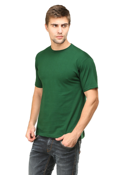 round neck half sleeves cotton tshirt online