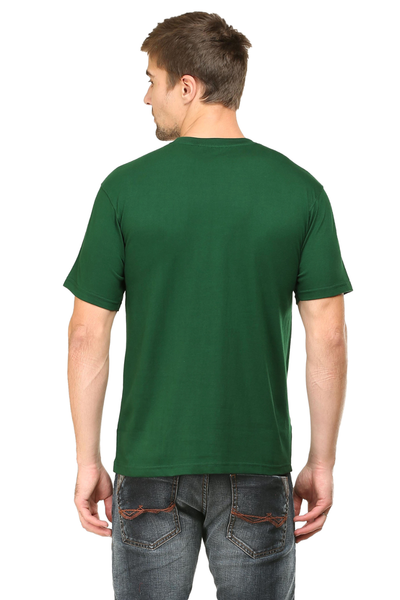 round neck half sleeves cotton tshirts online