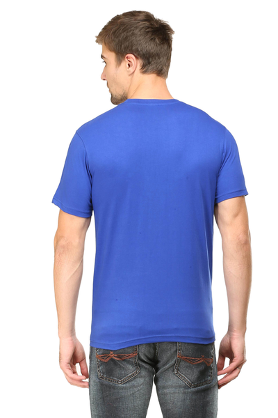 I'm SHERLOKED with Image Men's Round Neck Half Sleeve printed Premium Cotton T-shirt Royal Blue