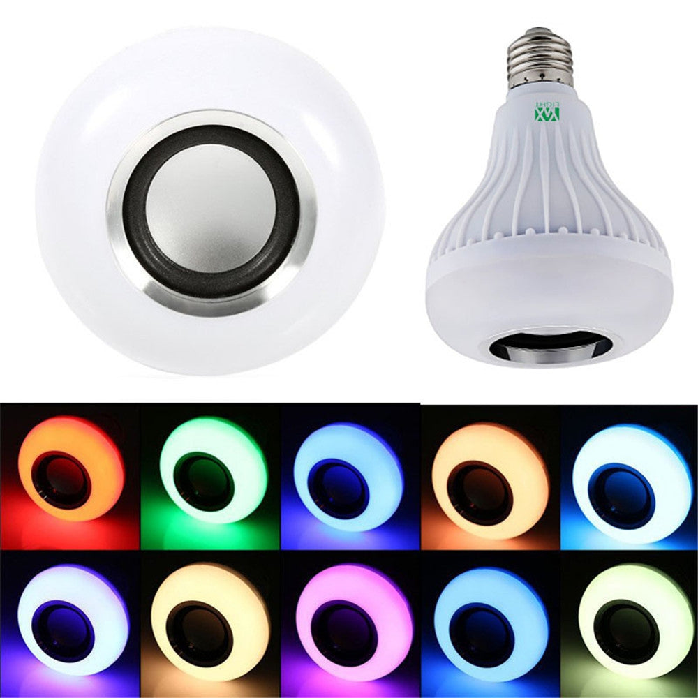 Smart Bluetooth Speaker Colorful LED Bulb