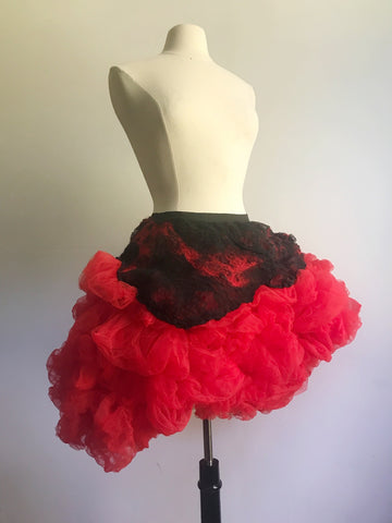Red Tulle Party Skirt