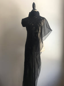Fire Dress in Black on Black