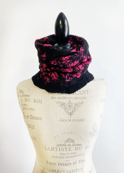 Pink and Black Cowl