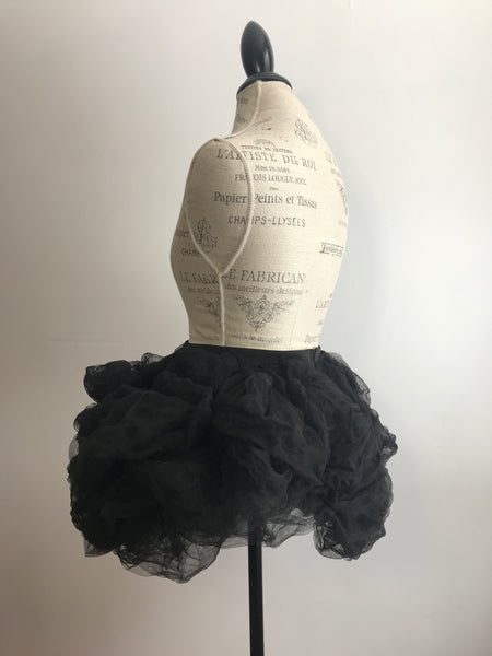 Black Sculpted Tulle Party Skirt