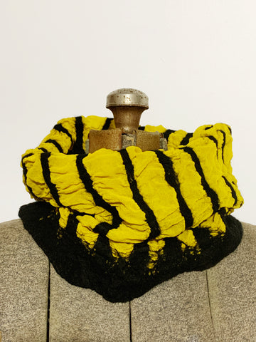 Yellow and Black Striped Cowl